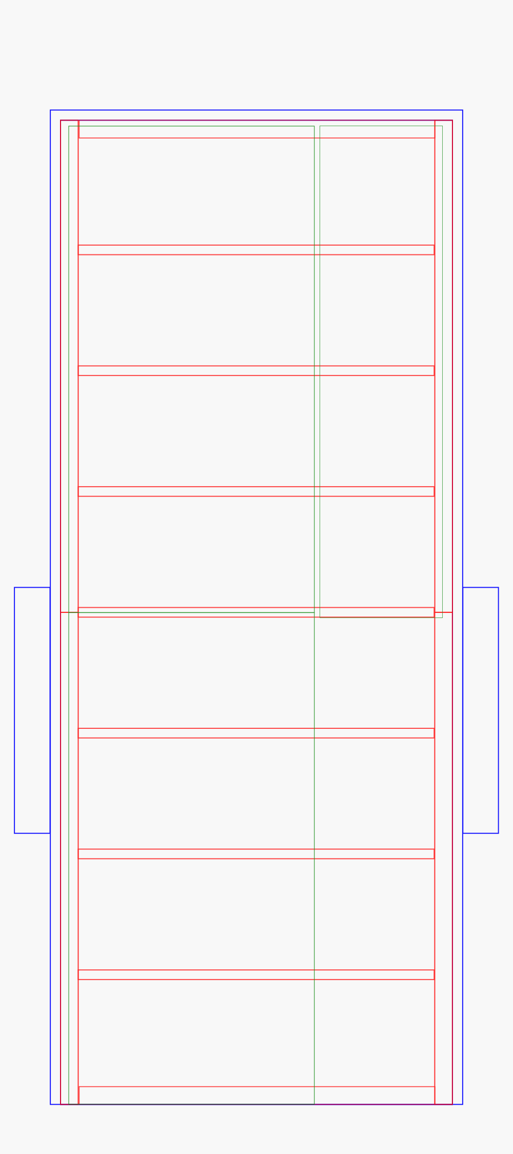 A simple wireframe-style outline of the trailer, from above, with lines drawn in to indicate where various board will be placed. Ideally.