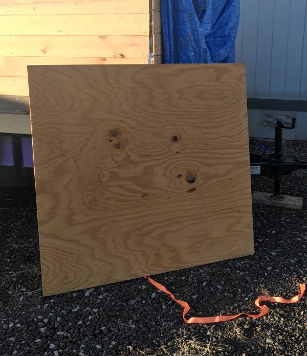 Yep, that's a big hunk of plywood, all right.